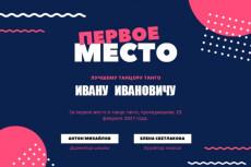 Нарисую диплом, грамоту в 10 вариантах 29 - kwork.ru