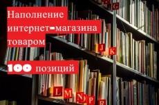 Наполнение сайта товаром или контентом 22 - kwork.ru