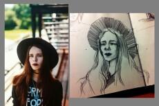 портрет поп-арт 3 - kwork.ru