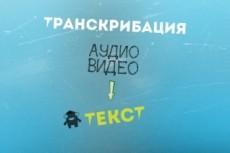 Транскрибация аудио/видео 16 - kwork.ru