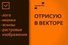 Вектор. Отрисовка логотипов, иконок, растровых изображений 214 - kwork.ru