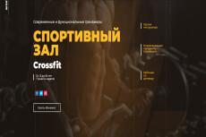 Сделаю  шапку лендинга 11 - kwork.ru