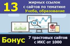 Продвижение в Google -10 ссылок с трастовых сайтов PR7-PR10 23 - kwork.ru