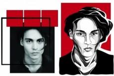 Векторный портрет по фото 22 - kwork.ru
