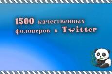 Twitter Подписчики, фолловеры 222 качественные. Русские профили 19 - kwork.ru