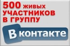 500 живых участников в группу ВК, ВКонтакте, без ботов и программ 20 - kwork.ru