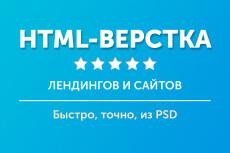 Вёрстка сайтов по макету 33 - kwork.ru