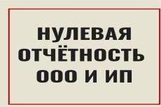 Заполнение нулевых деклараций для ООО, ИП 3 - kwork.ru