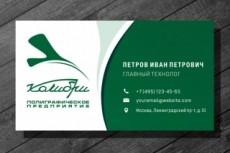 Разработаю дизайн визитки 20 - kwork.ru