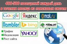Поисковый трафик на ваш ресурс до 300 уников в день 21 - kwork.ru
