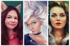 Сделаю красочный и современный портрет из вашего фото 22 - kwork.ru