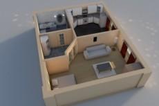 Сделаю визуализацию интерьера квартиры, дома, офиса 12 - kwork.ru