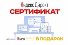 Сертификат Яндекс Директ. Помощь в получении, сдаче экзамена 13 - kwork.ru
