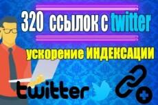 Размещу в индексируемых ПС Twitter аккаунтах 40 ссылок 12 - kwork.ru