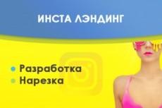 Сделаю Landing для Instagram 55 - kwork.ru