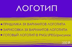 Нарисую от одного до трёх логотипов 11 - kwork.ru