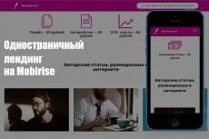 Landing одностраничный сайт 23 - kwork.ru
