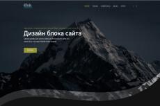Дизайн страницы или сайта 23 - kwork.ru