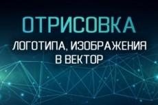 Переведу ваш логотип или изображение в вектор 22 - kwork.ru