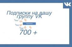 Добавлю 1000 качественных подписчиков вконтакте в группу либо в друзья 11 - kwork.ru