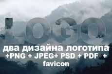 Дизайн логотипа 215 - kwork.ru