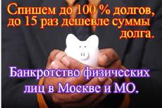 Сделаю заключение о признаках преднамеренного и фиктивного банкротства 16 - kwork.ru