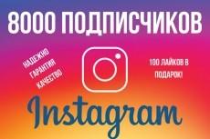 +1000 Подписчиков в ваш аккаунт instagram, отличное качество 7 - kwork.ru