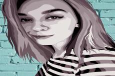 Напишу стилизованный портрет по фото 10 - kwork.ru