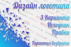 Приятный Дизайн вашего логотипа. Исходники PSD в подарок 7 - kwork.ru