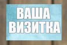 Макет-дизайн визитки 13 - kwork.ru
