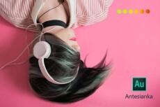 Обработка аудио, импорт звуковой дорожки из видео 51 - kwork.ru