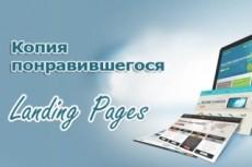 Скопировать Landing page, одностраничный сайт, посадочную страницу 19 - kwork.ru