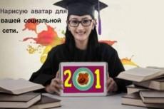 Сделаю аватар для соц сетей, групп. Обработаю любое фото под заказ 8 - kwork.ru