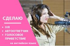 Сделаю голосовое приветствие, автоответчик, IVR - женский голос 5 - kwork.ru