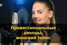 Озвучка женским голосом 33 - kwork.ru