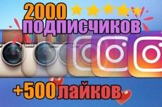 Акция +5500 подписчиков на instagram + 3000 лайков 14 - kwork.ru