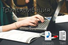 Транскрибация - перевод в текст аудио или видеоматериалов 22 - kwork.ru