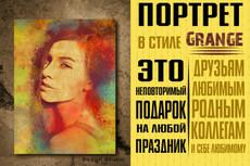 Три варианта стилизованного портрета в разных стилях 11 - kwork.ru