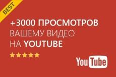 2000 просмотров видео с удержанием на YouTube 12 - kwork.ru