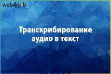 Набор текста с аудио и видео. Транскрибирование 20 - kwork.ru
