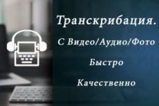Транскрибация, расшифровка текста 19 - kwork.ru