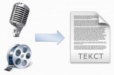 Перевод - транскрибация аудио, видео в текст 60 минут 10 - kwork.ru