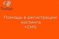 Зарегистрирую домен, подберу хостинг, установлю CMS 2 - kwork.ru