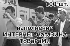 заполню карточки товаров в интернет-магазине 7 - kwork.ru