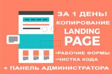 Скопирую Landing page, одностраничный сайт и установлю редактор 109 - kwork.ru