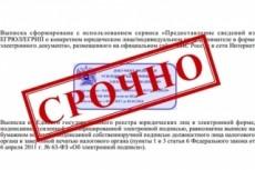 Предоставлю оперативно актуальную выписку из егрюл/ егрип 8 - kwork.ru