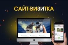 Простой сайт-визитка 22 - kwork.ru