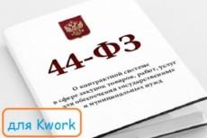 Напишу техническое задание в соответствии с ФЗ-223 и 44 5 - kwork.ru