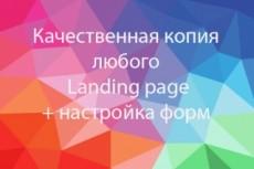Скопирую Landing Page любой сложности, настрою формы заказа 4 - kwork.ru