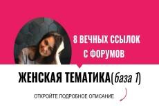 15 ссылок на 15 общих форумах. Комментарии в новых темах 8 - kwork.ru